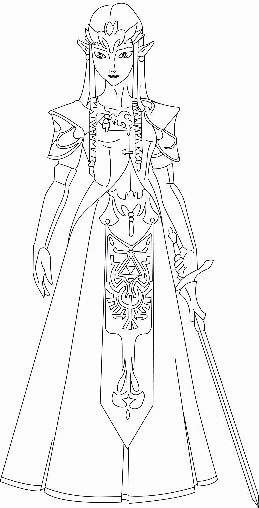 princess zelda coloring pages   Zelda Breath Of The Wild Pages Coloring Pages